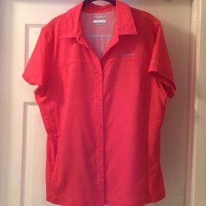 Columbia Omni-Shade Coral Shirt XL
